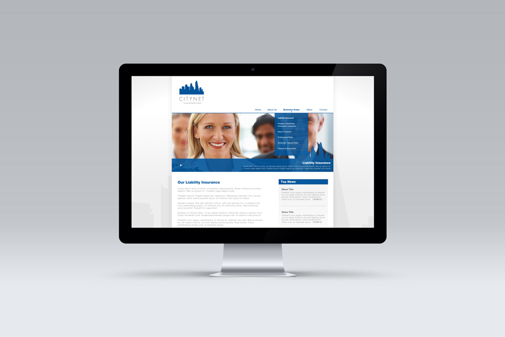 Citynet Insurance Brokers, Web Design