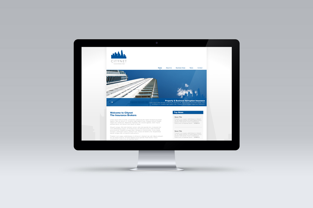 Citynet Insurance Brokers, Website Design