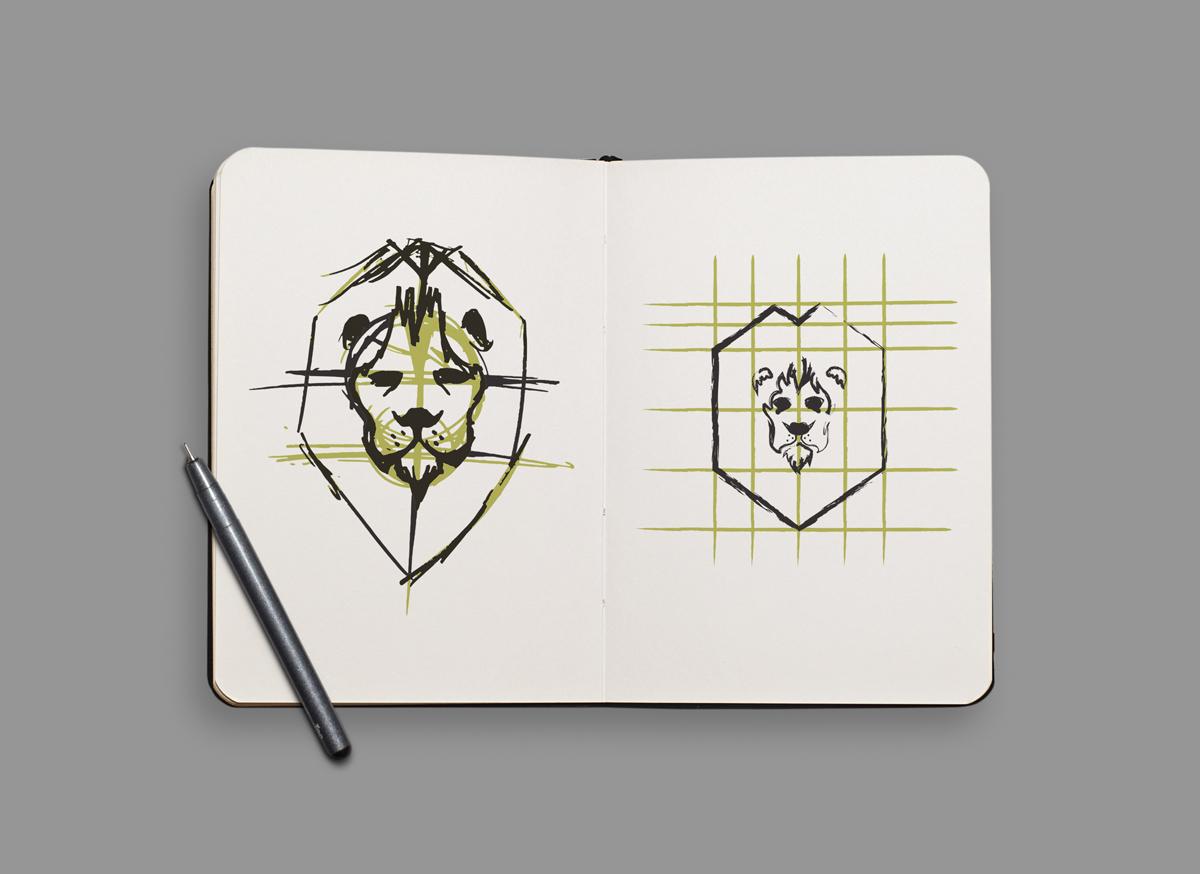 Leo Qwest logo sketch